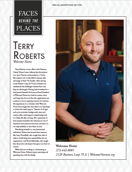 """""""Faces Behind Welcome Home"""" featuring Terry Roberts"""