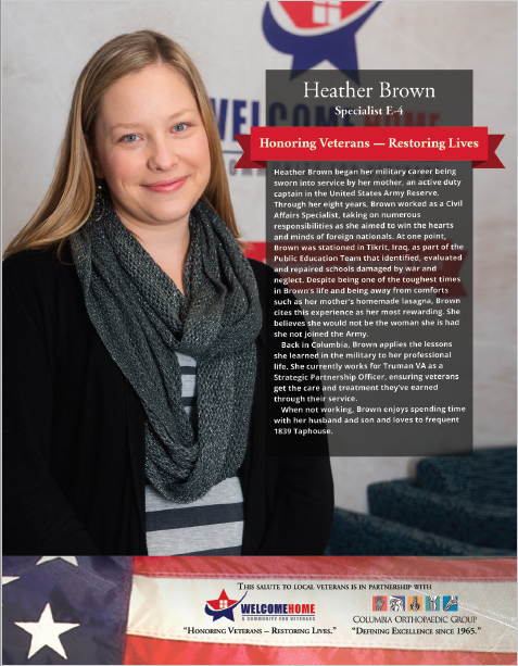 """Read more about the article """"Salute to Local Veterans"""" featuring Heather Brown"""