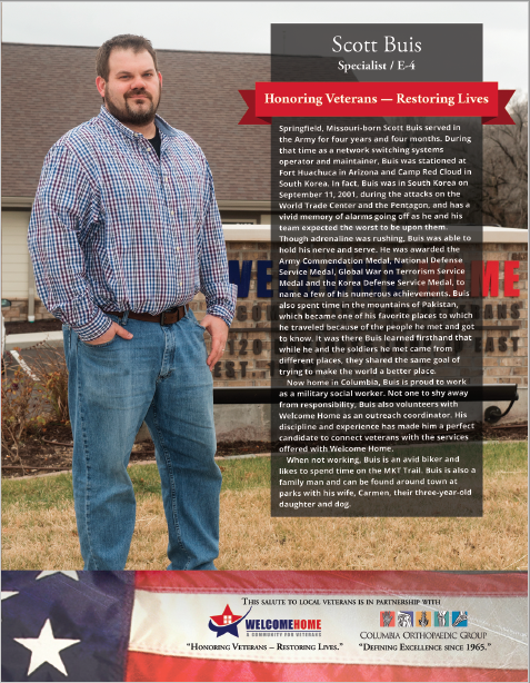 """Read more about the article """"Salute to Local Veterans"""" featuring Scott Buis"""