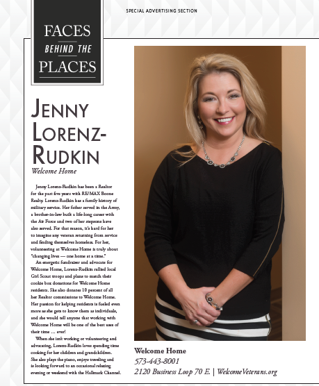 """Faces Behind Welcome Home"" featuring Jenny Lorenz-Rudkin"