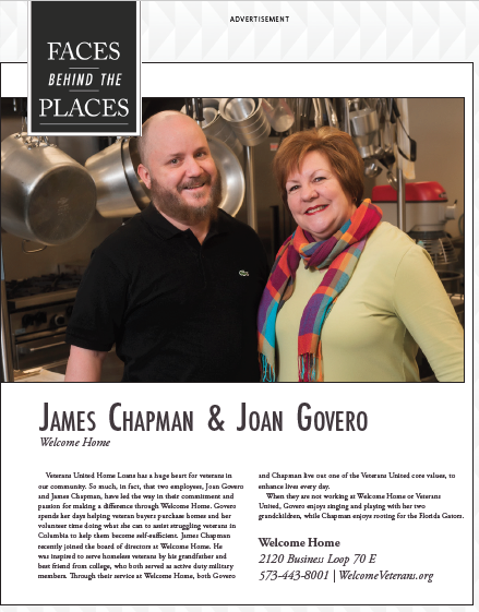 """Faces Behind Welcome Home"" featuring James Chapman & Joan Govero"