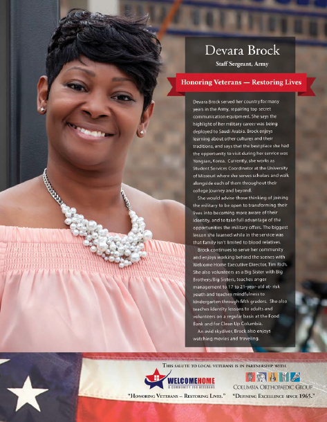 """Salute To Local Veterans"" Featuring Devara Brock"