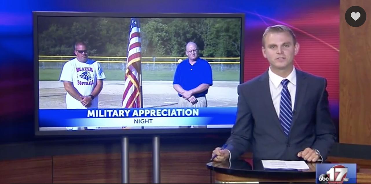 Tolton softball hosts military appreciation night
