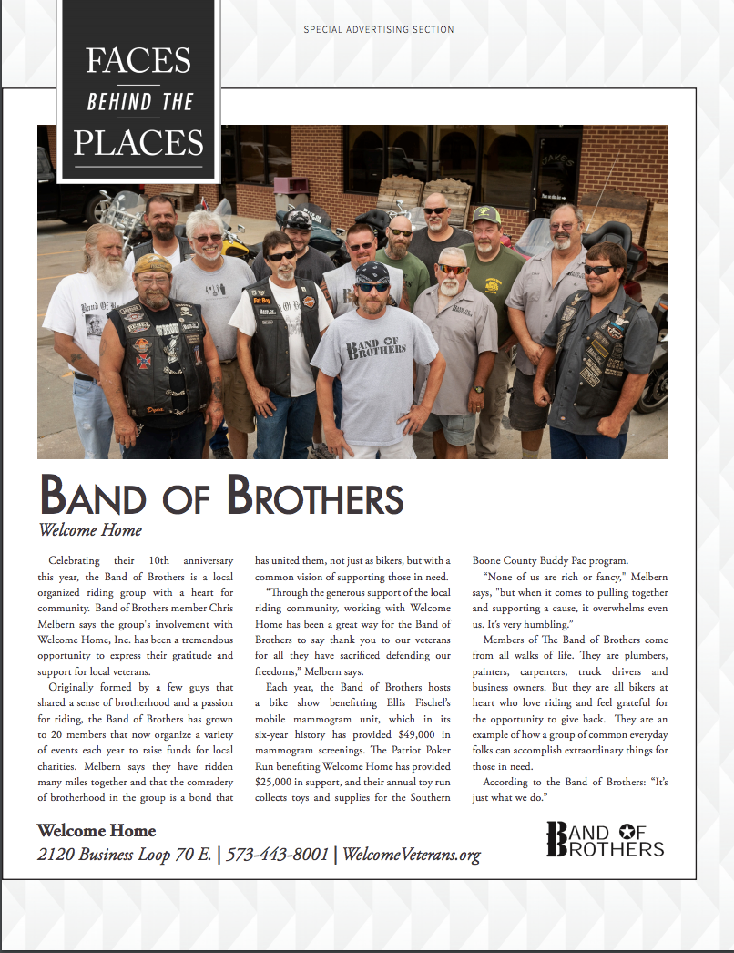 """Faces Behind Welcome Home"" featuring Band of Brothers"