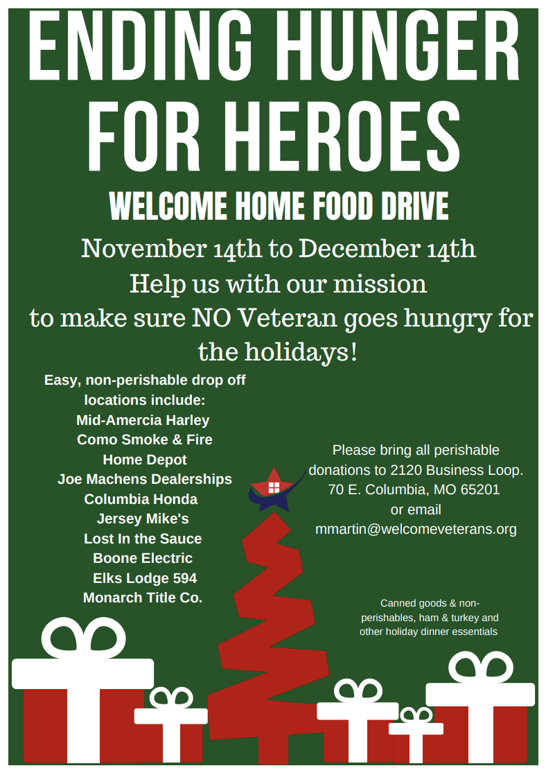 Ending Hunger For Heroes Food Drive Welcome Home