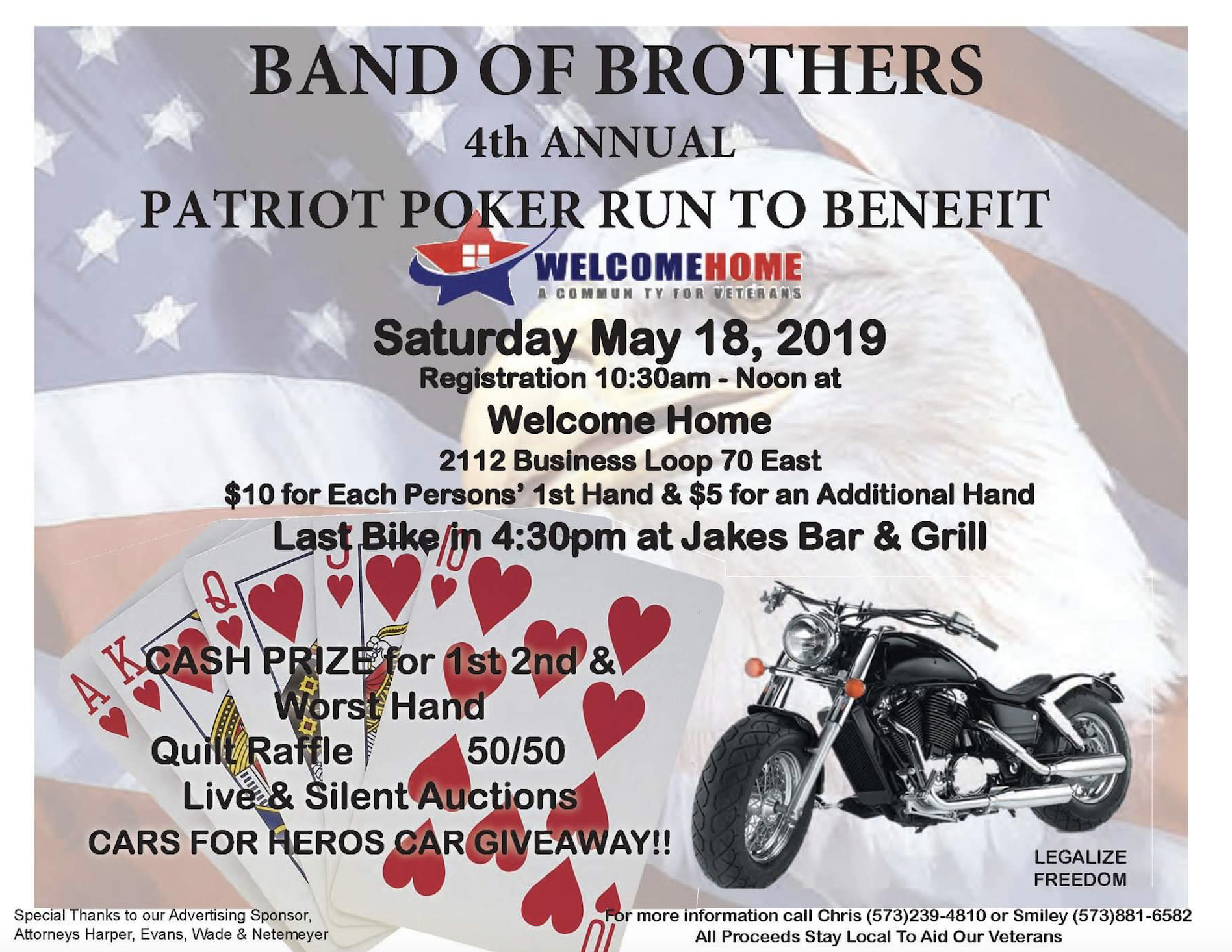Band of Brothers 4th Annual Poker Run - Welcome Home